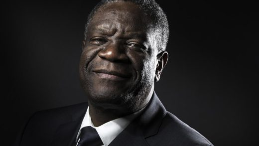 (FILES) In this file photo taken on October 24, 2016 Congolese gynecologist Denis Mukwege poses during a photo session in Paris. Congolese doctor Denis Mukwege and Yazidi rape victim Nadia Murad won the 2018 Nobel Peace Prize on October 5, 2018 for their work in fighting sexual violence in conflicts around the world.  / AFP PHOTO / JOEL SAGET
