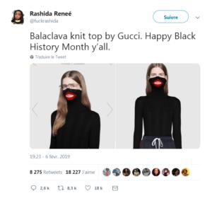 Gucci Blackface internaute twitter