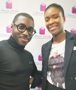 Rodrigue Vodounou, fondateur de GOYA Paris et Grace Yoka, directrice associée de E-Black Infinite