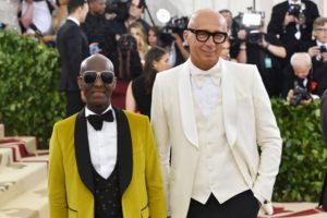 Le designer Dapper Dan et le PDG de Gucci Marco Bizzarri